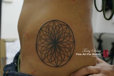 Lotus Mandala Linework