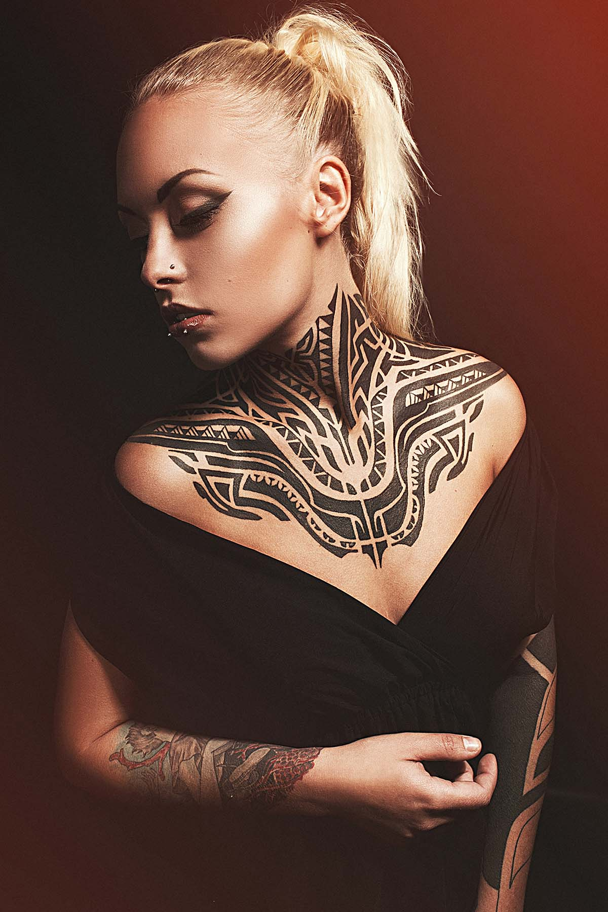 Female tattoos tumblr designs quotes on side of ribs on for Neck tattoos for females
