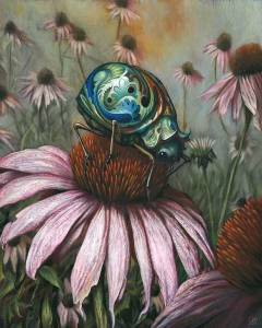 Esao Andrews echinacea tattoo gentleman bug abstract watercolor realism tattoo Tempe TAttoo Artist tariq sabur fine art for bodies-edit sig hires-PAINTING