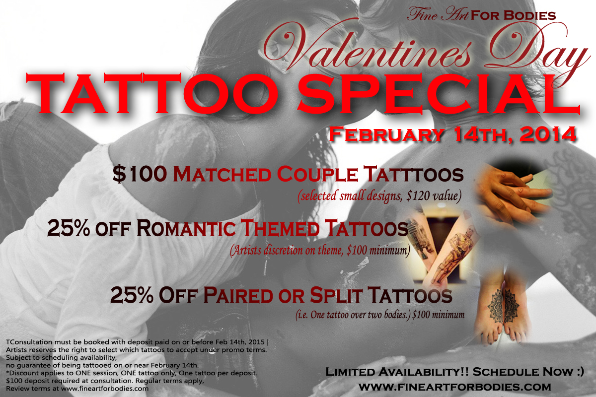 Valentine S Day Tattoo Special Fine Art For Bodies